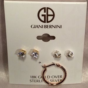 Giani Bernini 3 pc set of Earrings.